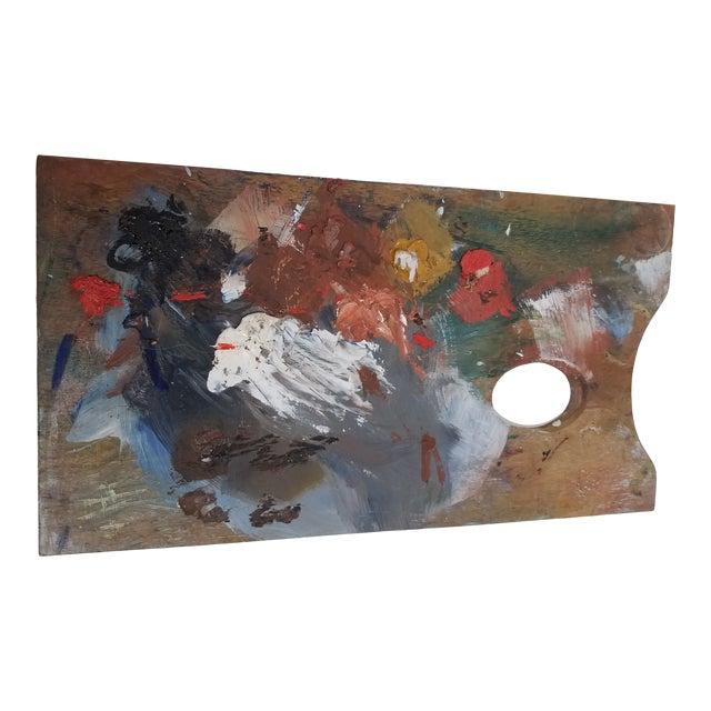 Antique English Artist Palette For Sale