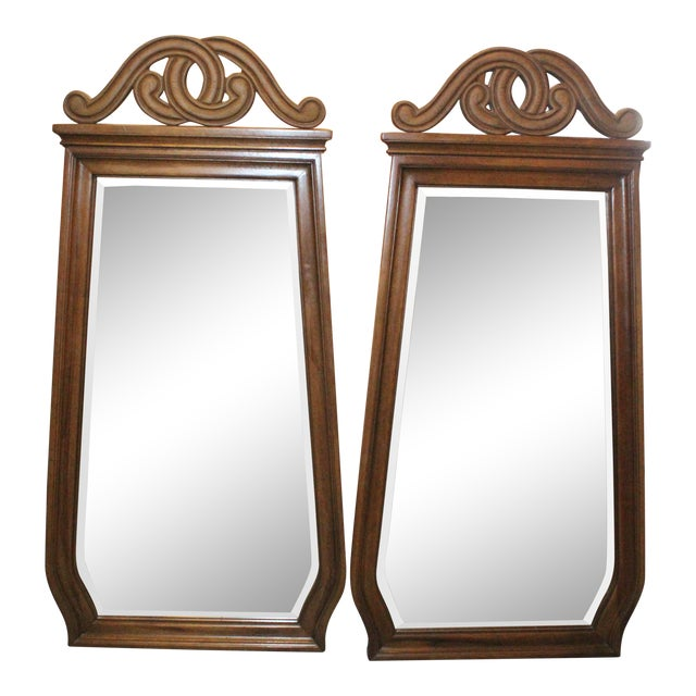 Art Nouveau Style Wall Mirrors - a Pair For Sale