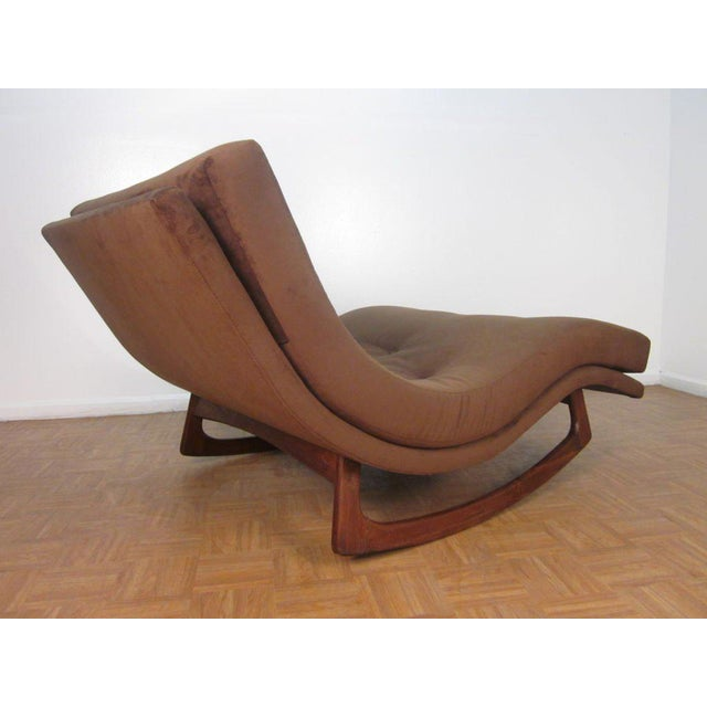 Adrian Pearsall Adrian Pearsall Sculptural Double Wide Rocking Chaise For Sale - Image 4 of 5