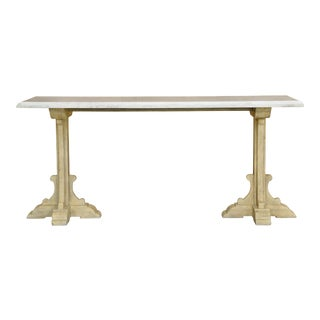 Sarreid Ltd Radford Marble Console For Sale