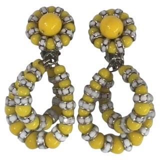 Francoise Montague Yellow Lolita Clip Earrings For Sale