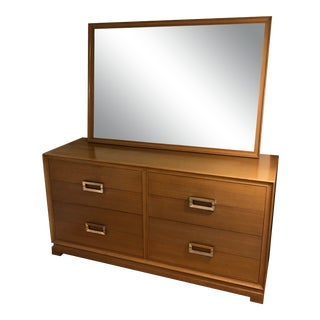Mid-Century Modern 8-Drawer Mahogany Dresser and Mirror by Red Lion For Sale
