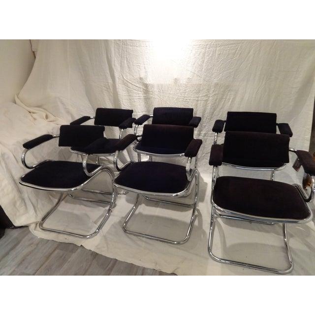 Stupendous Mid Century Italian Chairs Set Of 6 Dailytribune Chair Design For Home Dailytribuneorg