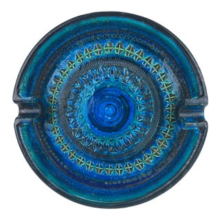 1960 Incised Pottery Raymor Bitossi Cigar Ashtray From Italy For Sale
