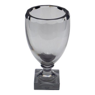Kosta Boda Swedish Art Deco Smoked Glass Vase For Sale