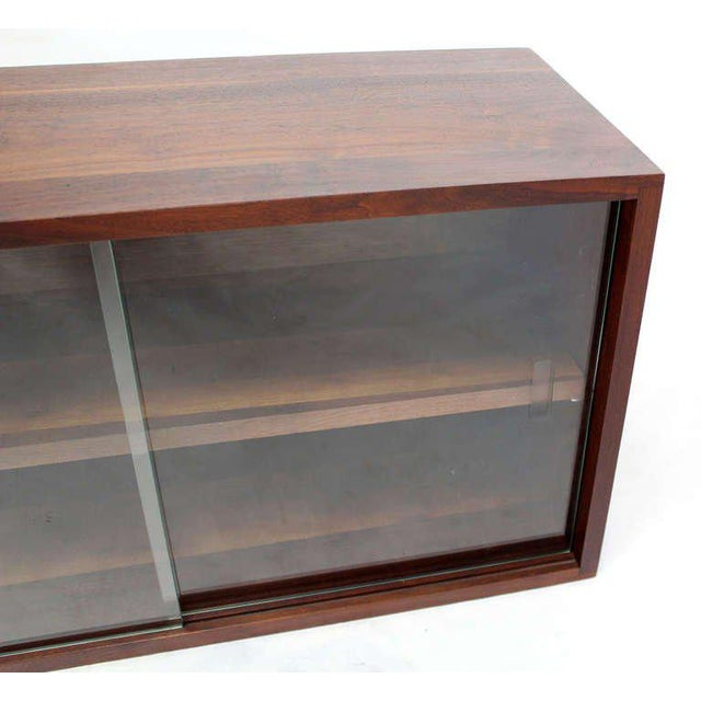 Early 20th Century Mid-Century Modern Solid Walnut Hanging Shelf or Bookcase For Sale - Image 5 of 8
