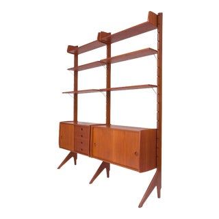 "Vintage Danish Modern Blindheim Møbelfabrikk ""Ergo"" Teak Shelving Unit C. 1960's For Sale"