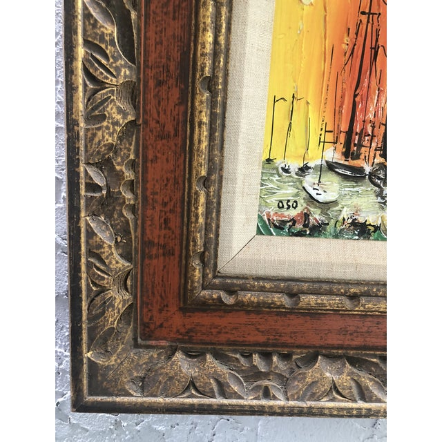 1970s Style Modern Ships Small Painting For Sale - Image 9 of 11