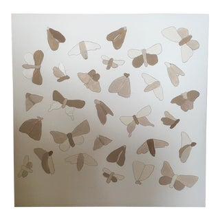 Moths & Butterflies Acrylic on Canvas Painting For Sale