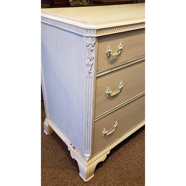 French Walnut Painted Chest of Drawers 19th Century Exceptional Quality - French Import - Painted White - Deep Drawers -...