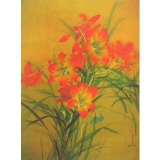 Tiger Lillies, Original Lithograph, David Lee For Sale