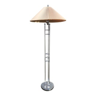 Vintage Chrome Floor Lamp with Lucite Finial