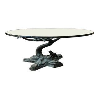 Frog & Branches Glass Top Coffee Table