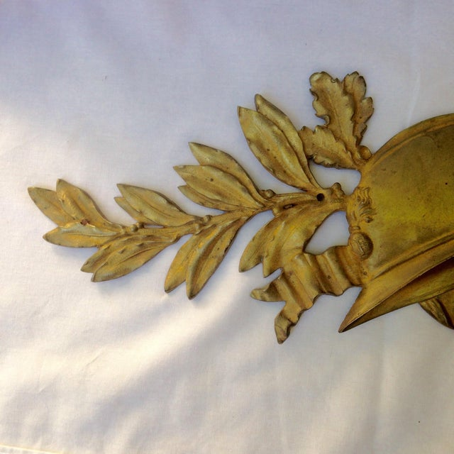 Metal French Gilt Bronze Wall Plaque For Sale - Image 7 of 7