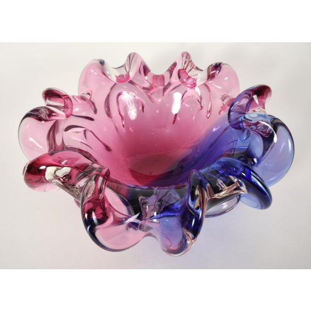 Glass Large Mid-20th Century Murano Glass Centerpiece For Sale - Image 7 of 7