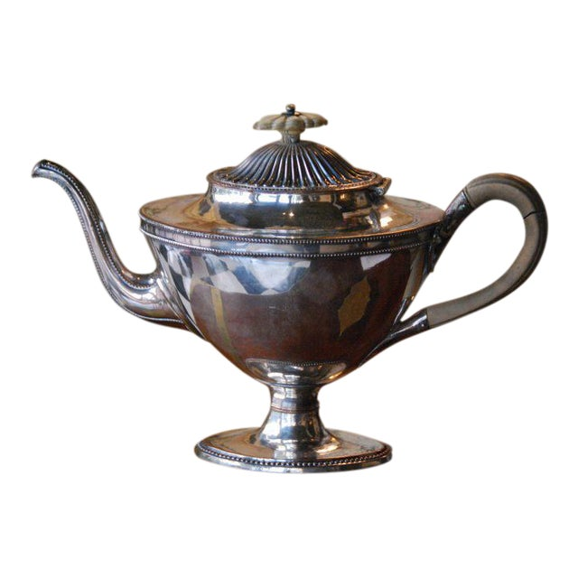 Silver Plated Tea Pot For Sale