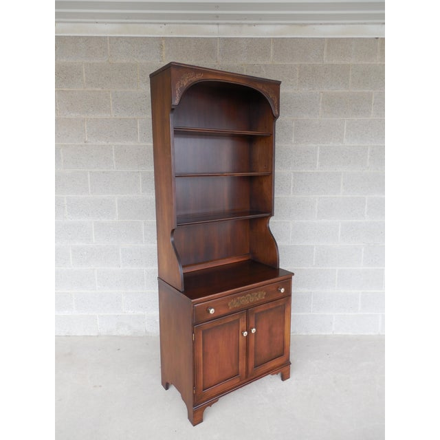 L. Hitchcock Harvest Stenciled 2PC Bookcase Cabinet For Sale - Image 10 of 10