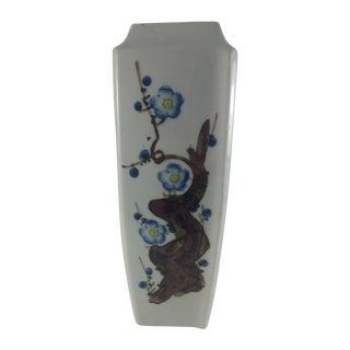 Blue Cherry Blossom Japanese Vase