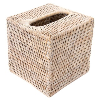 Artifacts Rattan Column Tissue Box For Sale