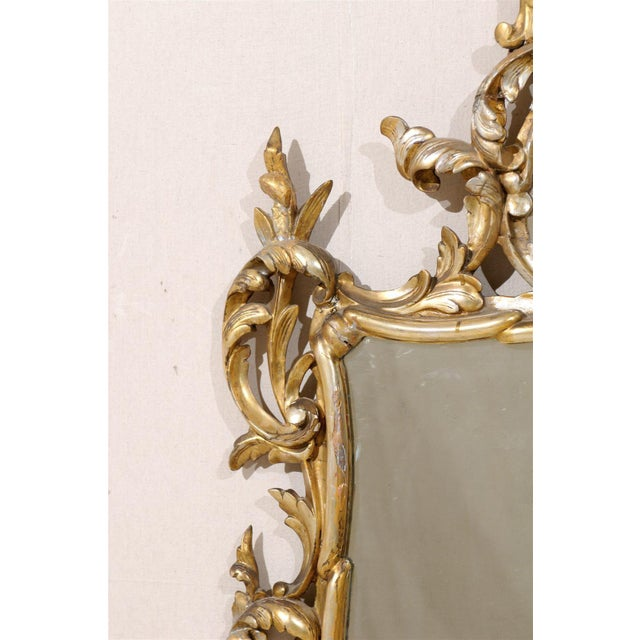 Metal Early 20th Century Italian Gold and Silver Gilt Mirror For Sale - Image 7 of 11