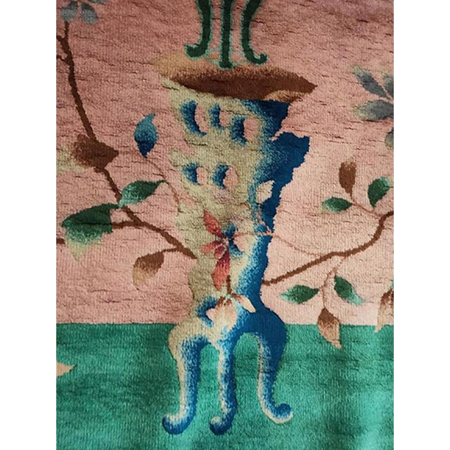 "1920s Antique Chinese Art Deco Rug-8'10"" X 11'8"" For Sale In New York - Image 6 of 7"