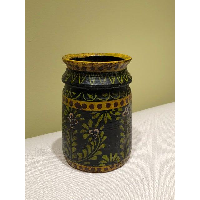 Wooden Folk Vase - Image 2 of 3