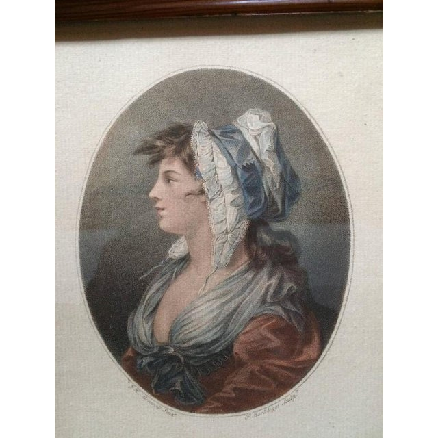 """Portraiture 18th Century Color Engraving """"A St. Giles's Beauty"""" For Sale - Image 3 of 8"""