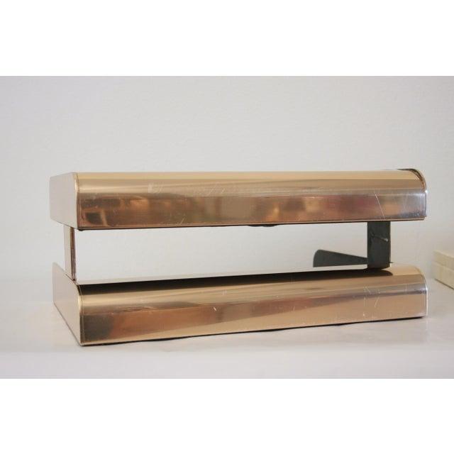 William Sklaroff Radius Two Brass Desk Tray For Sale - Image 7 of 11