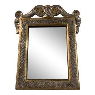 Antique Silver and Gold Mirror For Sale