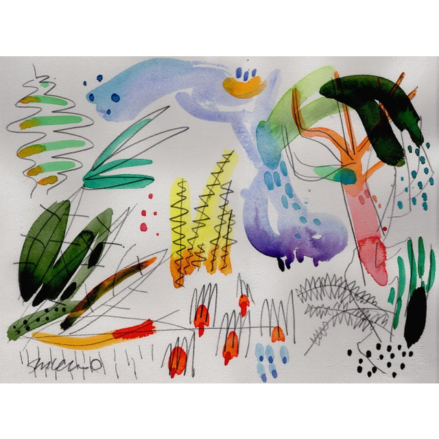 Contemporary Botanical English Garden Series Watercolor Giclee Prints - Set of 12 For Sale - Image 3 of 6