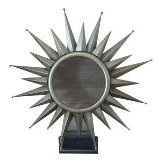 Mid-Century Metal Starburst Sculpture For Sale