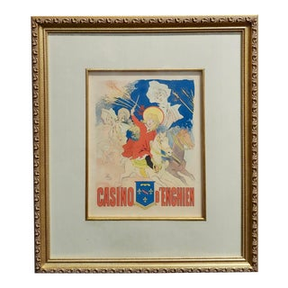 Casino d'Enghien Original 19th Century Belle Epoque Poster For Sale