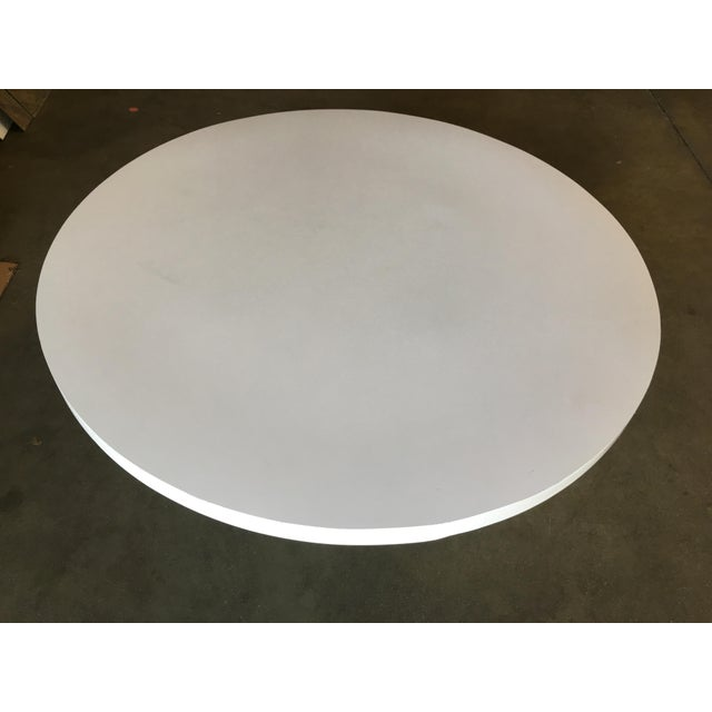 """Metal Heavy Top 36"""" Inch Tulip Coffee Table in the Saarinen/Knoll Style For Sale - Image 7 of 10"""