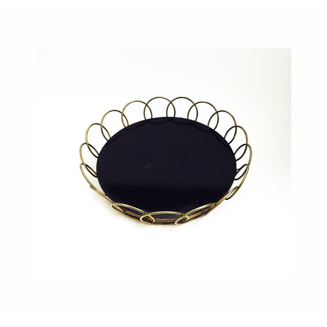 Mid-Century Brass Wire Tray - Image 3 of 6