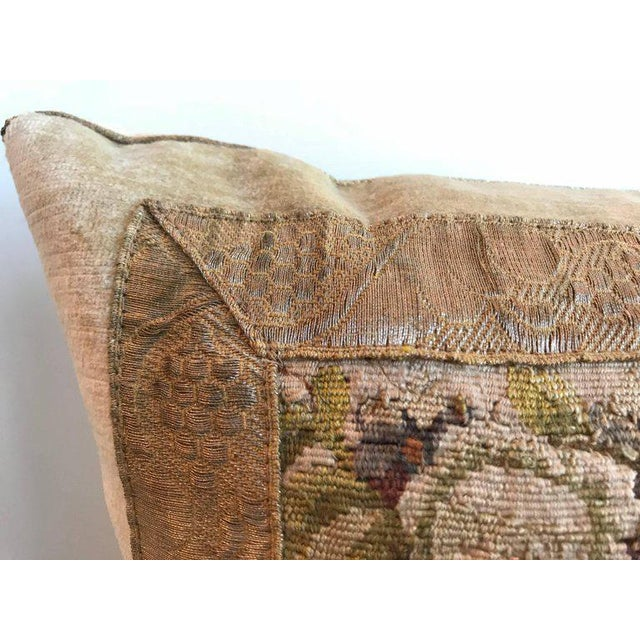 Traditional 18th Aubusson Tapestry of a Man with a Spaniel Pillow For Sale - Image 3 of 7