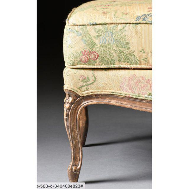 Louis XV Style Bergere & Footstool For Sale In Palm Springs - Image 6 of 8