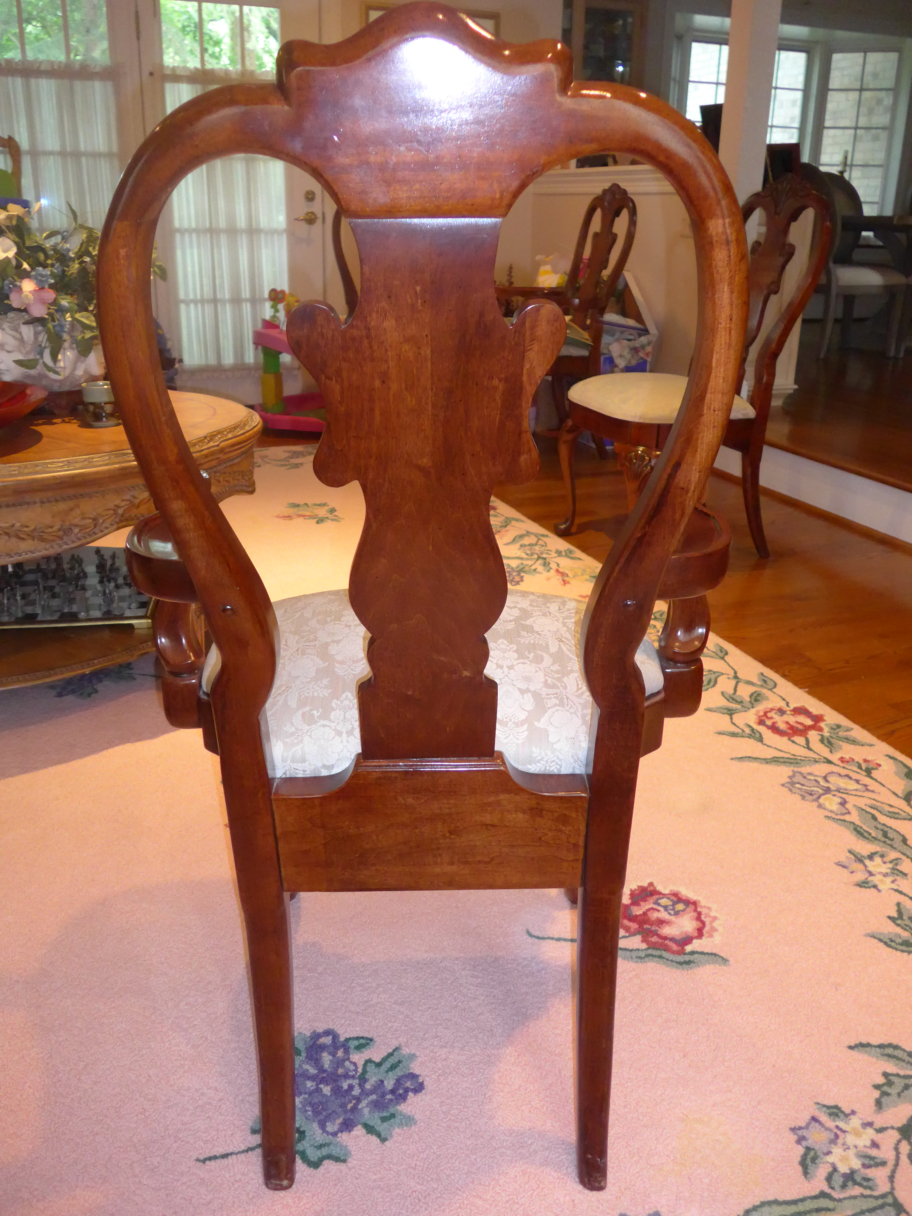 American Drew Cherry Grove Splat Back Dining Chairs   Set Of 6 For Sale    Image