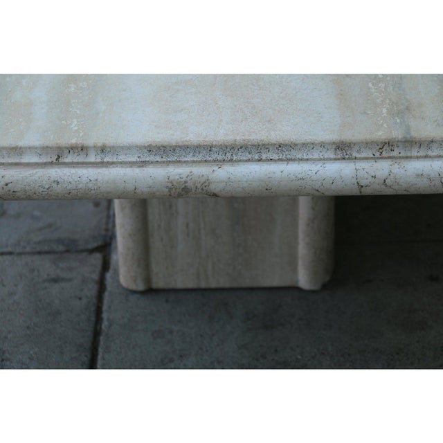 Stone Vintage Mid Century Travertine Coffee Table For Sale - Image 7 of 9