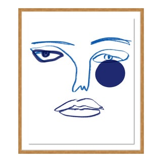 Visage by Annie Naranian in Gold Frame, Small Art Print For Sale