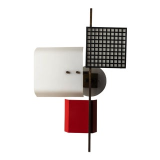 1950s 3-Panel Wall Light Attributed to Oscar Torlasco For Sale
