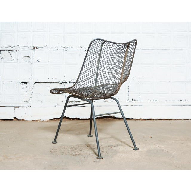 1950s Set of 4 Russell Woodard Wire Chairs For Sale - Image 5 of 9