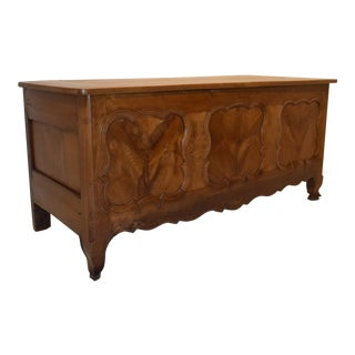 19th-Century Country French Blanket Chest For Sale