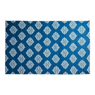 Frontier Blue Wool Rug - 12′2″ × 1″ For Sale