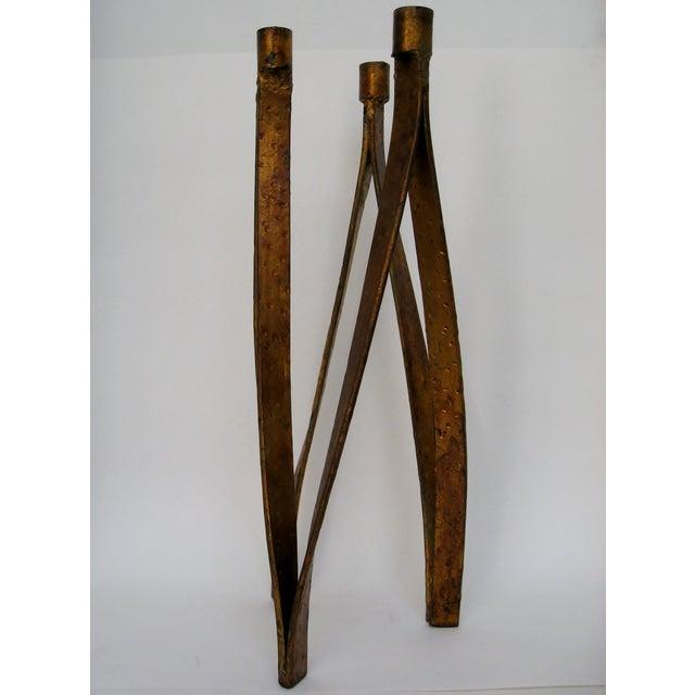 Handmade Iron Candelabra - Image 6 of 10