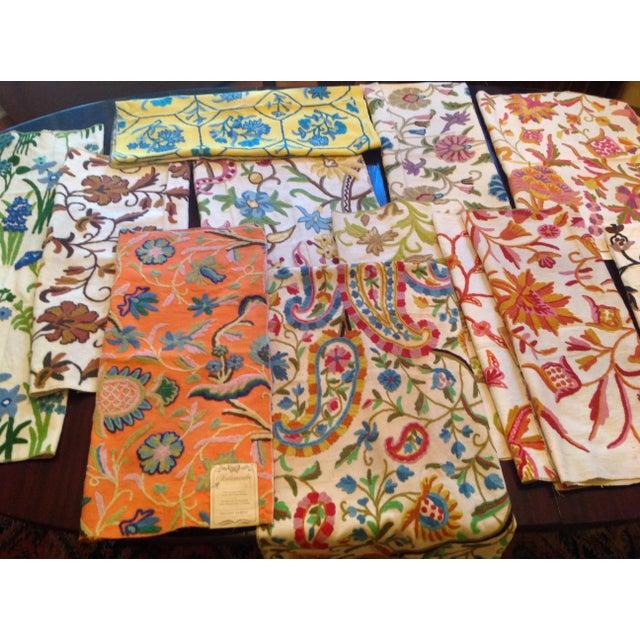 Vintage Crewel Fabric - Image 3 of 3