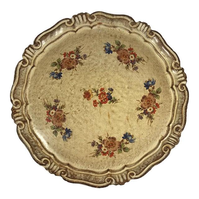 Vintage Italian Venetian Floral Tray - Image 1 of 9