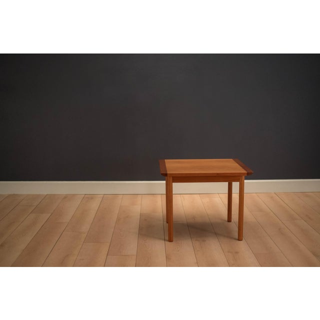 Mid-Century Modern 1960s Mid-Century Modern Westnofa Teak Side Table For Sale - Image 3 of 12