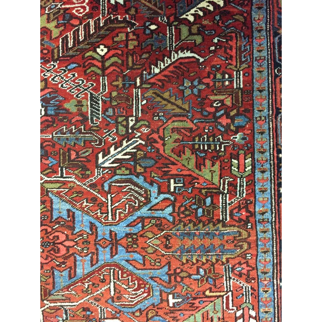 "Traditional Vintage Red Hand Woven Rug 7'7"" X 10'8"" For Sale - Image 3 of 7"