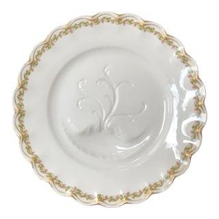 Antique Haviland Limoges Drippings Catching Meat Serving Gilded Shamrock Border Platter For Sale