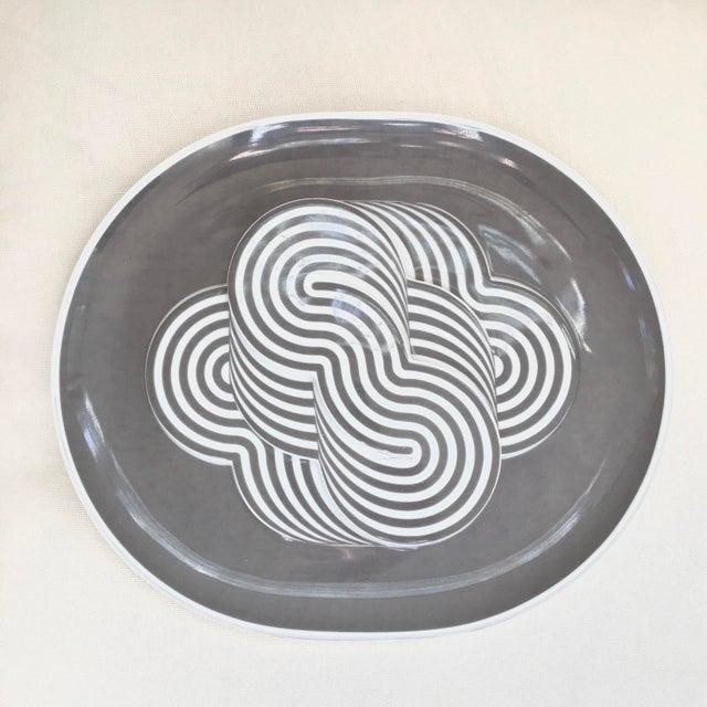 1970s 1972 Vintage Rosenthal Jahresteller by Sapone Psychedelic Porcelain Plate For Sale - Image 5 of 5